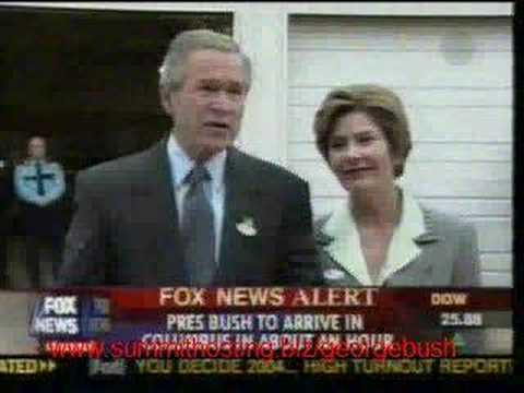 George W. Bush Uses Subliminal Persuasion on Election Day