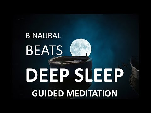 progressive muscle relaxation guided hypnosis with binaural beats, meditation for sleep