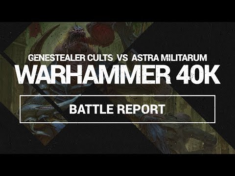 Warhammer 40k –  Rapid Fire Batrep: Genestealer Cults vs Astra Militarum