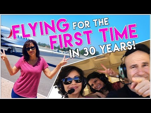 First time flying in 30 years! Hypnosis to cure fear of flying  [actual flight footage]