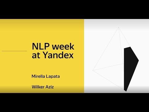 Yandex NLP week