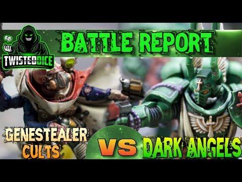Genestealer Cults vs Dark Angels 2000 points Warhammer 40k battle report