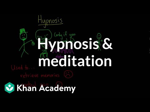 Hypnosis and meditation | Processing the Environment | MCAT | Khan Academy