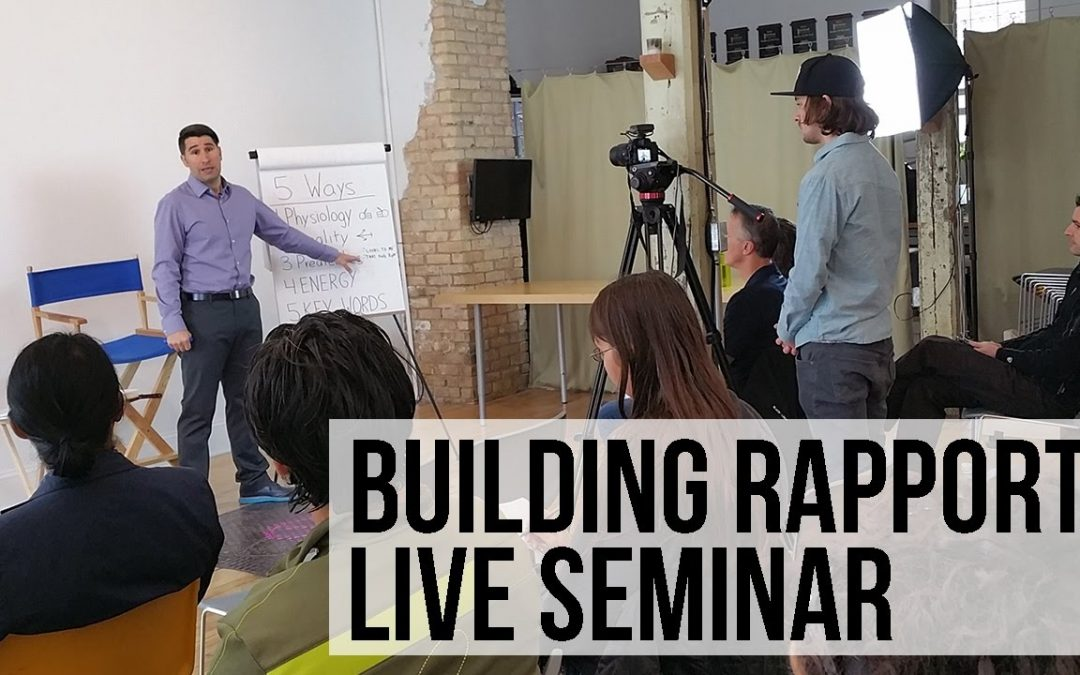 5 Ways to Build Rapport Free Training – NLP Live Seminar with Demonstration