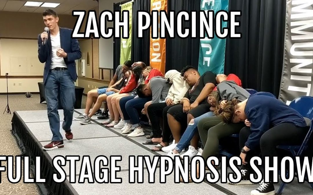Hypnotist Zach Pincince FULL Stage Hypnosis Show   Entire UNCUT College Hypnosis Performance