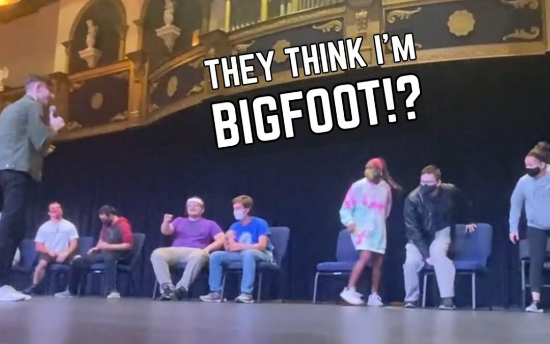 Using Hypnosis to Become Bigfoot | College Stage Hypnosis Show