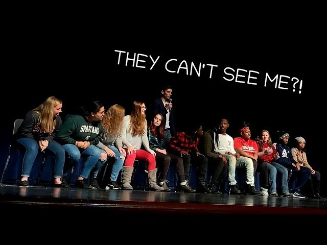 Hypnotized to Think I Turn Completely Invisible | College Stage Hypnosis Show