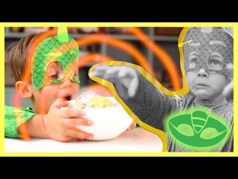 PJ Masks in Real Life 🍦 Ice Cream MIND CONTROL?! 🍦 Halloween PJ Masks 🎃