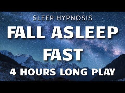 Sleep Hypnosis Fall Asleep Fast 4 HOURS Long Play – Sleep Talk Down, Sleep Meditation